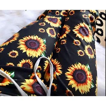 Be Happy Sunflower Lounge Pants