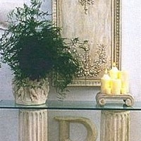 Classic Fluted Column Console Base 31H Home Decor