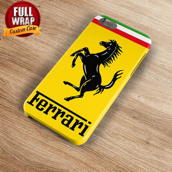 Ferrari Automobile Car Logo Full Wrap Phone Case For iPhone, iPod, Samsung, Sony, HTC, Nexus, LG, and Blackberry