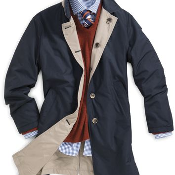 Porto Reversible Trench Coat - Pick Stitch Outerwear - Outerwear - Clothing - Men | Peter Millar