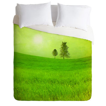 Viviana Gonzalez Trees And Shinning Field I Duvet Cover