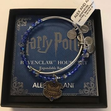 Alex and Ani Harry Potter Ravenclaw Motto Set Bangle Two Tone Finish New with Box