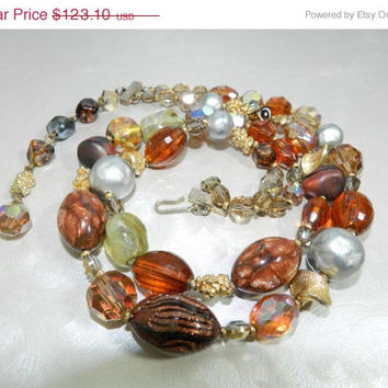 Mothers Day Sale Stunning Hattie Carnegie Mid Century Double Strand Chunky Beaded Necklace Designer Jewelry Jewellery