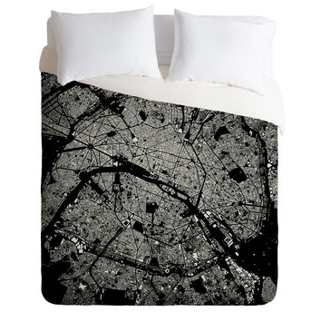 CityFabric Inc Paris Black Duvet Cover