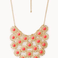 Delicate Cutout Bib Necklace