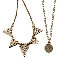 Round Charm Necklace - Gold