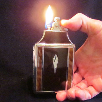 Ronson Master Case Lighter Cigarette Case 1930s Tortoise Shell Enamel Unused Mint Condition In Original Box