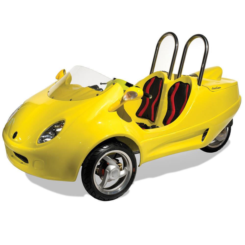 The Three Wheeled Scooter Coupe From Hammacher Schlemmer