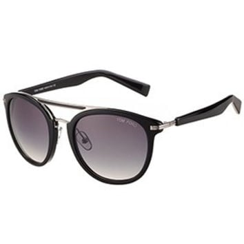 Tom Ford Aviator Black And Silver Sunglasses 308046