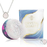 Crystal Quartz - Candle and Bath Bomb Set With a Ring and a Chance to Win a $10k Ring