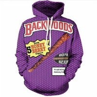 Newest Fashion Womens/Mens Backwoods Funny 3D Print Casual Hoodies Pullovers Sweatshirts LMS0079