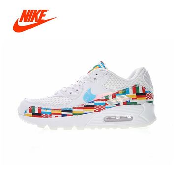 Original New Arrival Authentic Nike Air Max 90 NIC QS International Flag  Men s Running Shoes Sport 7f2650ea13cb