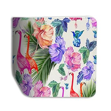 Tropical Flower Leather Passport Holder Protector Cover_SUPERTRAMPshop