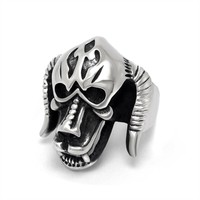 New Arrival Jewelry Gift Shiny Stylish Strong Character Vintage Titanium Accessory Creative Ring [6544853763]