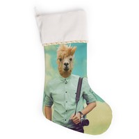 "Natt ""Passenger 1B"" Llama Christmas Stocking"