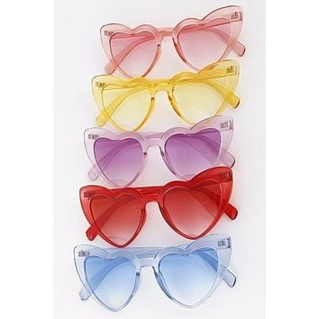 Clearly in Love Heart ❤️ 💙 💜 💗 Heart Shape Sunglasses