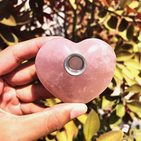 Rose Quartz Heart Pipe