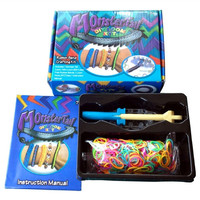 Monster Tail Loom+Colourful Rubber Bands+Clips+Hook Kit For Rainbow Loom Crafts