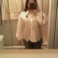 Labyrinth Costume-Sarah's Vest And Shirt--Faeryspell Creations