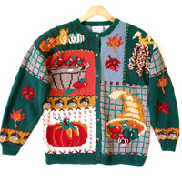 Cornucopia & Indian Corn Thanksgiving Ugly Sweater - The Ugly Sweater Shop