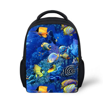 Tropical Fish Printing Toddler Backpacks For Children Colorful Ocean Animal School Bags Kindergarten Kids Mochilas Infantiles