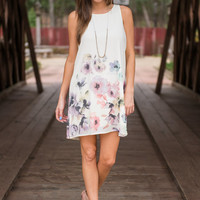 Forever In Florals Dress, Ivory