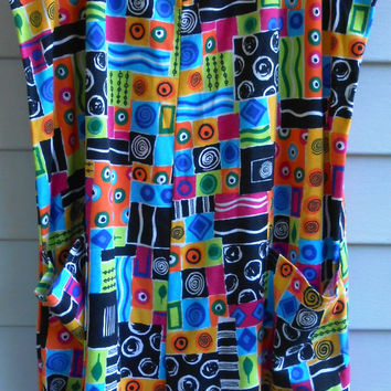 Vtg 90s Rad Rainbow Baja Skater Colorblock Club Kid Cyber Rave Trippin Psychedelic Seapunk Shorts Dress Romper Onesuit Jumpsuit