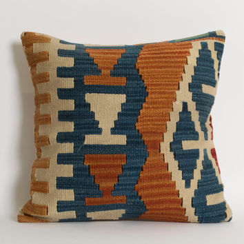 Vintage Kilim Pillow Cover - Bohemian Home Decor Kilim Cushion Cover Shabby Chic Pillowcase Decorative Couch Pillows Old Kilim Pillow
