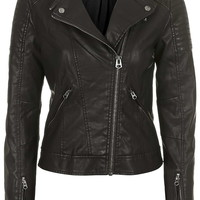 Quilted Faux Leather Jacket - New In This Week - New In