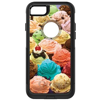 DistinctInk™ OtterBox Commuter Series Case for Apple iPhone or Samsung Galaxy - Ice Cream Scoops Cones