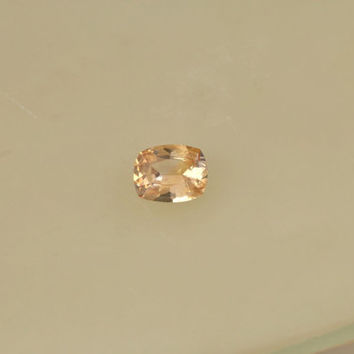 Peach Champagne Sapphire Cushion Shape Loose Gemstone for Sapphire Engagement Ring