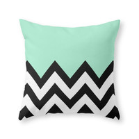 Society6 MINT GREEN COLOR Throw Pillow