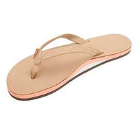 Women's Tropics Leather Sandal in Sierra Brown w/ Melon Midsole by Rainbow Sandals
