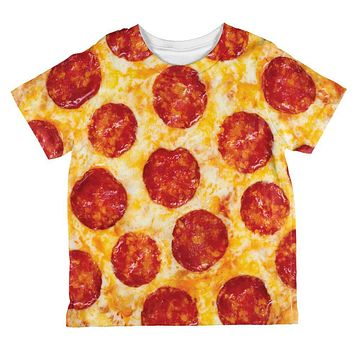 Pepperoni Pizza All Over Toddler T Shirt
