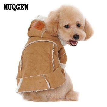 DCCKU7Q Super Deal dog clothes winter coats and jackets Suede Fabric Dog Clothes Pets Coats Soft Cotton Puppy Dog big dog clothes  XT