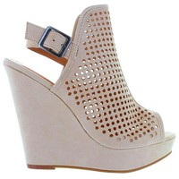 Chinese Laundry Magnolia - Summer Sand Micro-Suede High Platform Sling Wedge Sandal