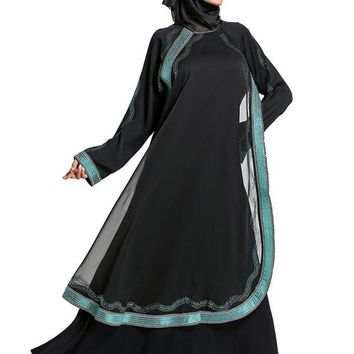 Dubai Abaya With Scarf Black Muslim Dresses - Maxi Dress Sexy Robe