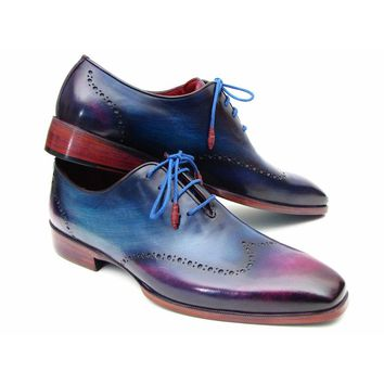 Paul Parkman Men's Blue and Purple Ombre Wingtip Oxfords