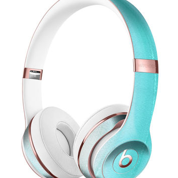 Lined Mint 9672 Absorbed Watercolor Texture Full-Body Skin Kit for the Beats by Dre Solo 3 Wireless Headphones