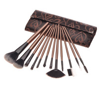 Brown Fashion 12-pcs Make-up Brush = 4831001860