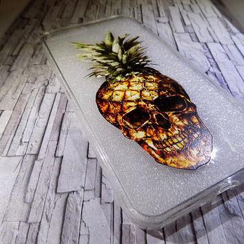 High Quality Personalized  Printed Silicone Clear Pineapple Phone Case