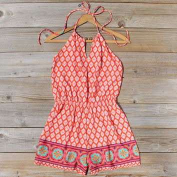 Sunstone Romper in Red