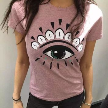 ONETOW Kenzo Fashion Trending Eye t-shirt Pink