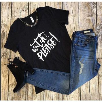 Witch PLease! Black Tee Shirt