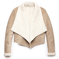 Warm Faux Shearling Bomber Jacket