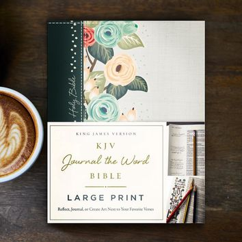 KJV Journal The Word Bible/Large Print-Deep Teal/Floral-Hardcover