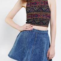 Urban Outfitters - Truly Madly Deeply Printed Mock Neck Cropped Top