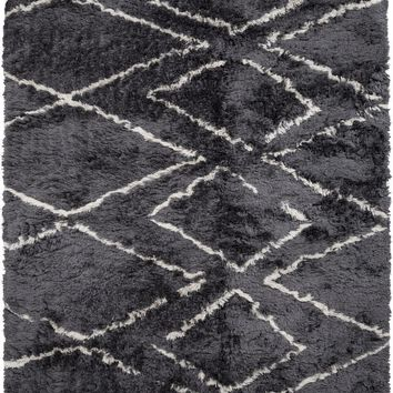 Scout Shag Area Rug Gray