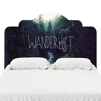Wanderlust Headboard Decal