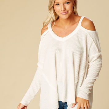 Altar'd State Karnes Thermal Top - Long Sleeve - Tops - Apparel